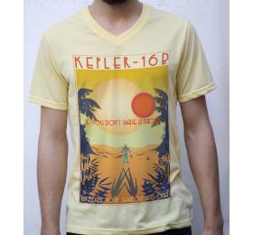 Kepler-16b T shirt Artwork, Exoplanets Holiday
