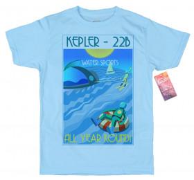 Kepler-22b T shirt Artwork, Exoplanets Holiday