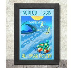 Kepler 22b Poster Print A3+ 13 x 19 in - 33 x 48 cm Exoplanets Holiday