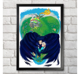 Howl's Moving Castle Inspired Poster Print A3+ 13 x 19 in - 33 x 48 cm