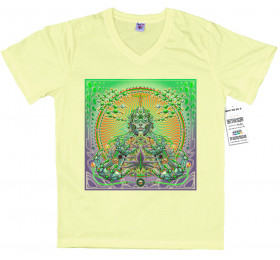 Trychoscopic T shirt Artwork, cannabis artwork by rosenfeldtown
