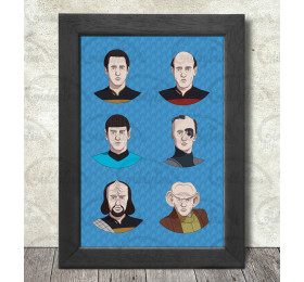 A fistful of Datas Poster Print A3+ 13 x 19 in - 33 x 48 cm Star Trek