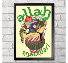 Allah Snackbar Poster Print A3+ 13 x 19 in - 33 x 48 cm