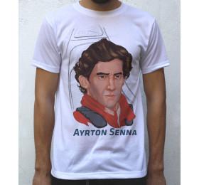 Ayrton Senna T shirt Artwork