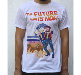 The Future is Now T shirt Artwork, Back to the Future Inspired