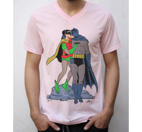 Batman & Robin Kissing T shirt Design, gay pride, funny '60s costumes