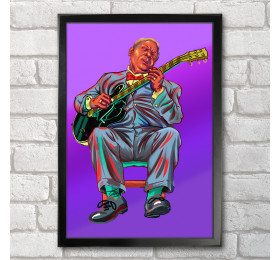 BB King Poster Print A3+ 13 x 19 in - 33 x 48 cm