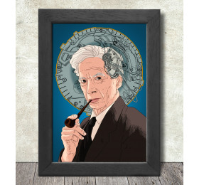 Bertrand Russell Poster Print A3+ 13 x 19 in - 33 x 48 cm