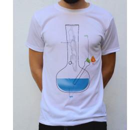 The Four Elements T shirt, bong design earth water air fire