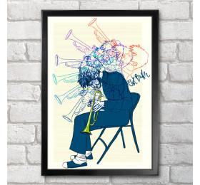 Chet Baker Poster Print A3+ 13 x 19 in - 33 x 48 cm