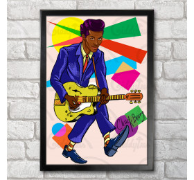 Chuck Berry Poster Print A3+ 13 x 19 in - 33 x 48 cm