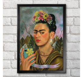 Frida Kahlo Poster Print A3+ 13 x 19 in - 33 x 48 cm Self-ie-Portrait, Classical Selfie