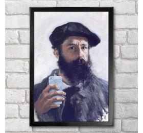 Claude Monet Self-ie-Portrait Poster Print A3+ 13 x 19 in - 33 x 48 cm