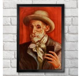 Pierre-Auguste Renoir Self-ie-Portrait Poster Print A3+ 13 x 19 in - 33 x 48 cm
