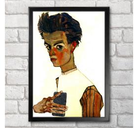 Egon Schiele Self-ie-Portrait Poster Print A3+ 13 x 19 in - 33 x 48 cm