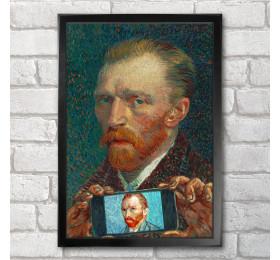 Vincent van Gogh Self-ie-Portrait Poster Print A3+ 13 x 19 in - 33 x 48 cm