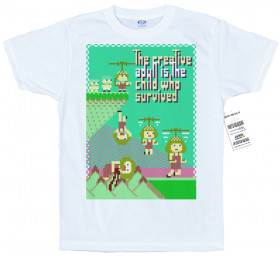 The Creative Adult is the Child who Survived T Shirt Artwork
