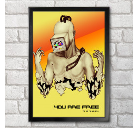 Cyborg Poster Print A3+ 13 x 19 in - 33 x 48 cm, you are free
