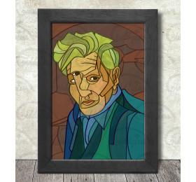 Deconstructed Portrait Jacques Derrida Poster Print A3+ 13 x 19 in - 33 x 48 cm