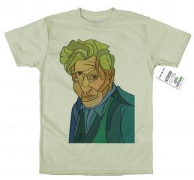 Deconstructed Portrait Jacques Derrida T-Shirt Artwork