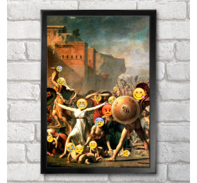 The Intervention of the Sabine Women  Poster Print A3+ 13 x 19 in - 33 x 48 cm Emoji Painting
