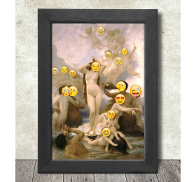 The Birth of Venus Poster Print A3+ 13 x 19 in - 33 x 48 cm Bouguereau Emoji Painting