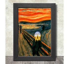 The Scream Poster Print A3+ 13 x 19 in - 33 x 48 cm Edvard Munch Emoji Painting