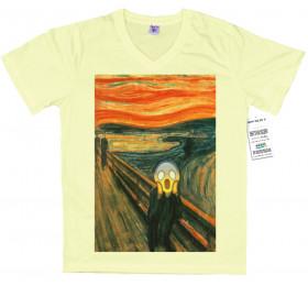 The Scream T shirt Design, Edvard Munch Emoji Painting