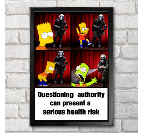 Authority Poster Print A3+ 13 x 19 in - 33 x 48 cm guardsman, bart simpson