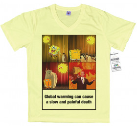 Global Warming Design, Health Warning T shirt