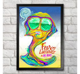 Fear and Loathing in Las Vegas Poster Print A3+ 13 x 19 in - 33 x 48 cm Psychedelic Design
