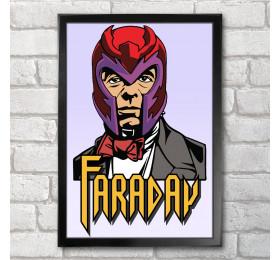 Michael Faraday - Magneto  Poster Print A3+ 13 x 19 in - 33 x 48 cm