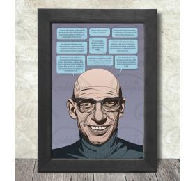 Michel Foucault Poster Print A3+ 13 x 19 in - 33 x 48 cm