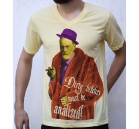 Sigmund Freud T shirt, Pimp Design Parody