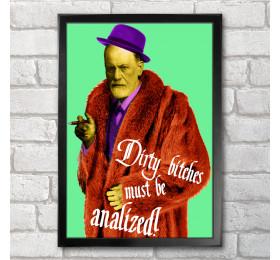 Sigmund Freud Poster Print A3+ 13 x 19 in - 33 x 48 cm Pimp Design Parody