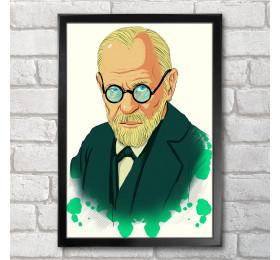Sigmund Freud Artwork Poster Print A3+ 13 x 19 in - 33 x 48 cm