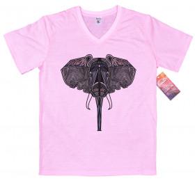 Geometrized Elephant T-Shirt Design