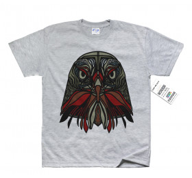 Geometrized Falcon T-Shirt Design