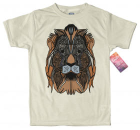 Geometrized Lion T-Shirt Design