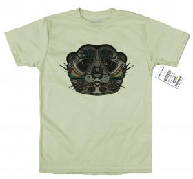 Geometrized Meerkat T-Shirt Design