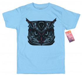 Geometrized Owl T-Shirt Design