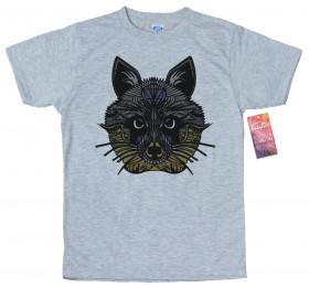 Geometrized Racoon T-Shirt Design