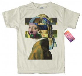Girl with a Pearl Earring - Johannes Vermeer T shirt, Glitch Design