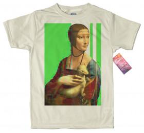 Lady with an Ermine - Leonardo da Vinci T shirt, Glitch Design
