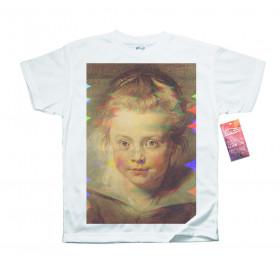 Portrait of Clara Serena - Peter Paul Rubens T shirt, Glitch Design