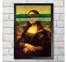 Mona Lisa Poster Print A3+ 13 x 19 in - 33 x 48 cm Leonardo da Vinci Glitch Design