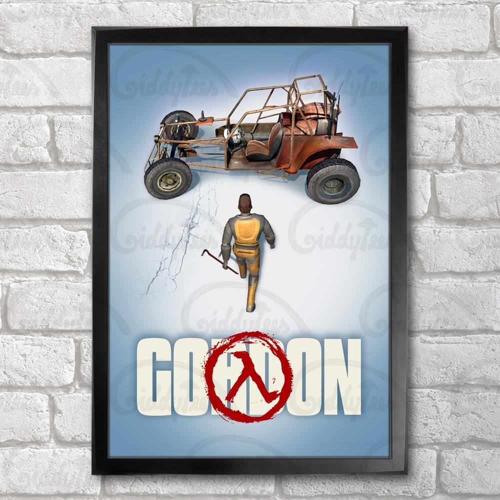 Gordon Poster Print A3 13 X 19 In 33 X 48 Cm Freeman Half Life