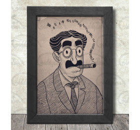Groucho Marx Poster Print A3+ 13 x 19 in - 33 x 48 cm