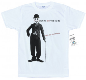 Guy Fawkes & Charlie Chaplin Design T Shirt