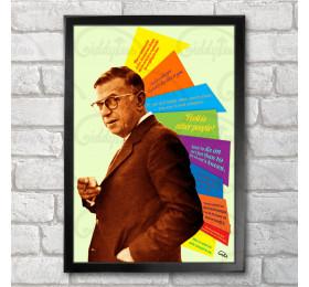 Jean-Paul Sartre Poster Print A3+ 13x19 in - 33x48 cm